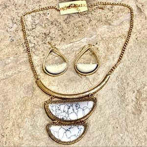 NWT Macy's necklace and earrings